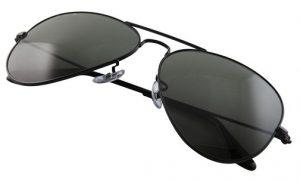 Black Aviator Sunglasses for Men