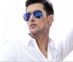 Blue Aviator Sunglasses Men
