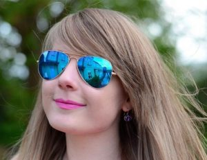 Blue Aviator Sunglasses for Women