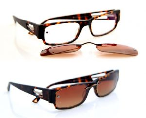 Eyeglasses with-Magnetic Clip On Sunglasses