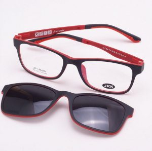Glasses with Magnetic Clip on Sunglasses