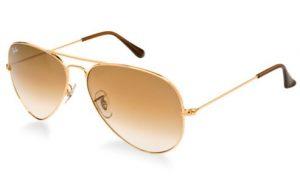 Gold Aviator Sunglasses for Women