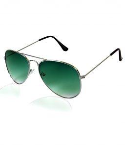 Green Aviator Sunglasses Men