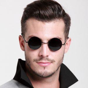 Mens Round Frame Sunglasses