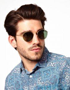 Mens Round Sunglasses