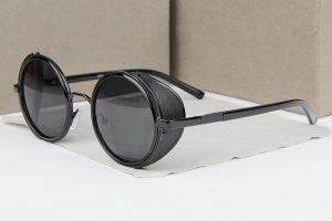 Mens Vintage Round Sunglasses
