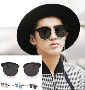 Oversized Round Sunglasses Men