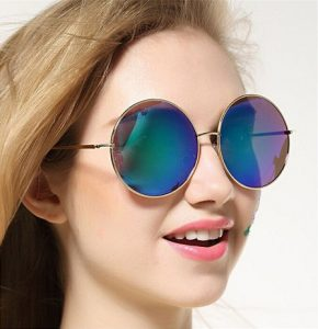 Oversized Round Sunglasses Women