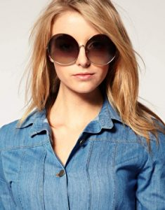 Pictures of Oversized Round Sunglasses