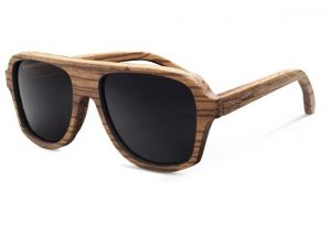 Pictures of Wood Wayfarer Sunglasses