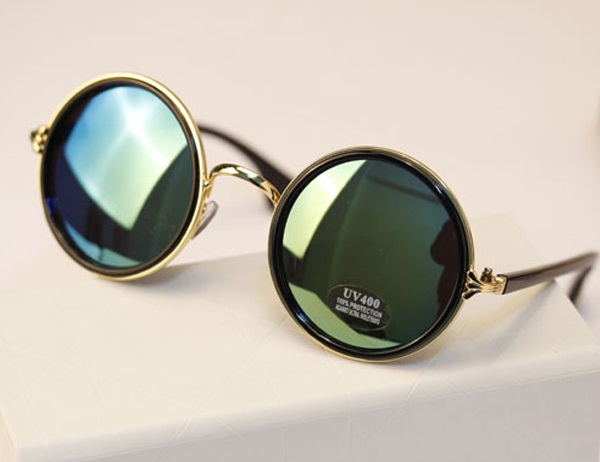 Mens Round Frame Glasses : Vintage Round Sunglasses Top Sunglasses