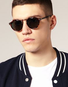 Retro Round Sunglasses for Men