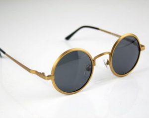 Round Gold Sunglasses Men
