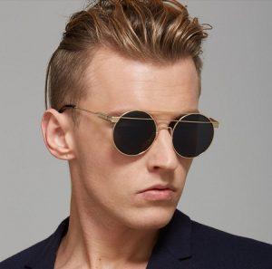 Round Lens Sunglasses Men
