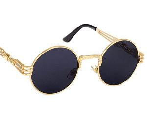 Round Vintage Sunglasses Men