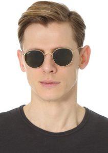 Rounded Sunglasses Men