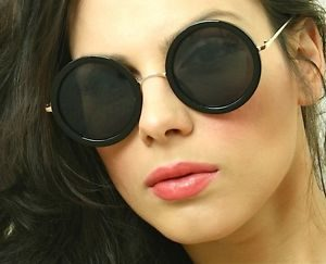 Vintage Round Sunglasses Women