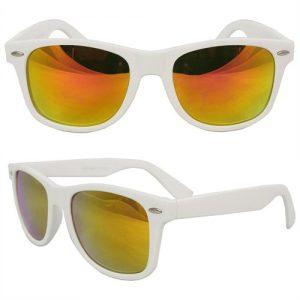 White Frame Wayfarer Sunglasses