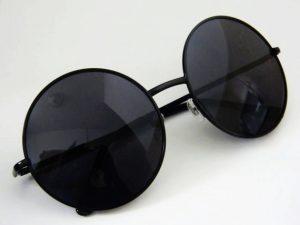 All Black Round Sunglasses
