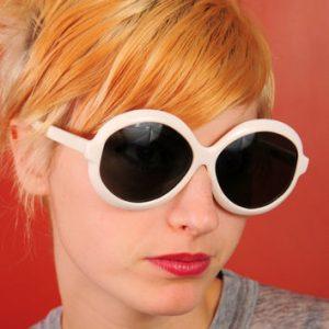 Big White Round Sunglasses