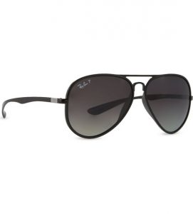 Black Aviator Sunglasses for Women