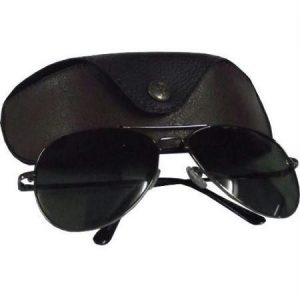 Black Aviators Sunglasses