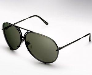 Black Mirrored Aviator Sunglasses