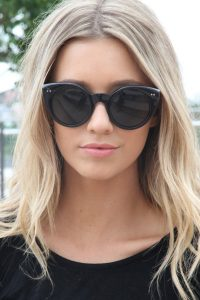 Black Round Cat Eye Sunglasses