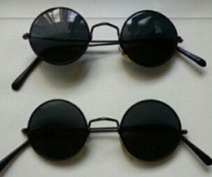 Black Round Sunglasses Men