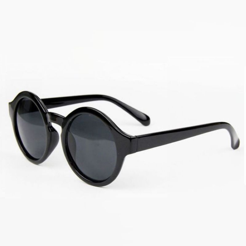 313ed90390e2 Black Round Sunglasses Womens
