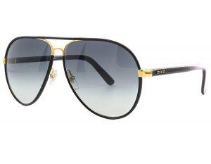 Black and Gold Aviator Sunglasses