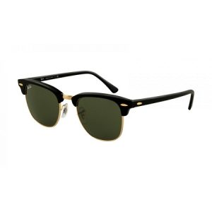 Black and Gold Clubmaster Sunglasses