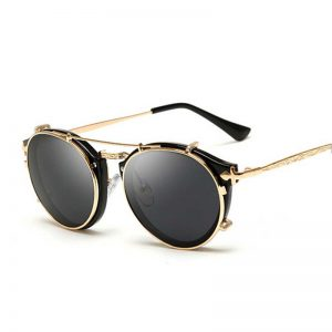 Black and Gold Sunglasses Men