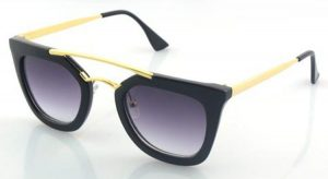 Black and Gold Sunglasses Womens