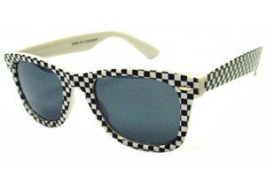 Black and White Checkered Sunglasses