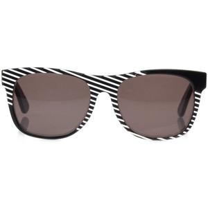 Black and White Striped Sunglasses