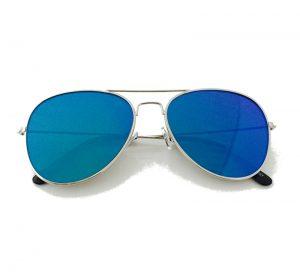 Blue Mirror Aviator Sunglasses