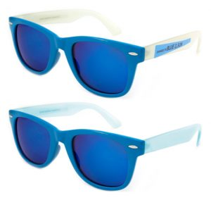 Blue Mirror Wayfarer Sunglasses