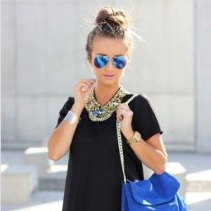 Blue Mirrored Sunglasses Pictures