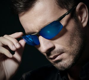 Blue Polarized Sunglasses for Men