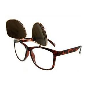 Clip On Flip Up Sunglasses Wayfarer