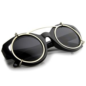 Clip On Sunglasses Round