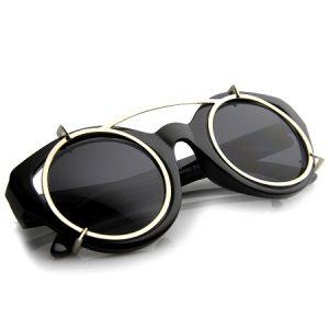 Clip On Sunglasses Round