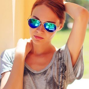 Colored Mirrored Aviator Sunglasses