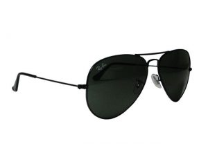 Dark Black Aviator Sunglasses