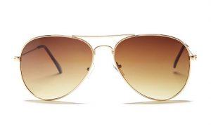 Gold Frame Aviator Sunglasses
