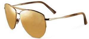 Gold Lens Aviator Sunglasses