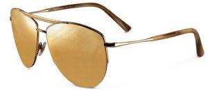 Gold Lens Aviator Sunglasses