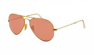 Gold Polarized Aviator Sunglasses
