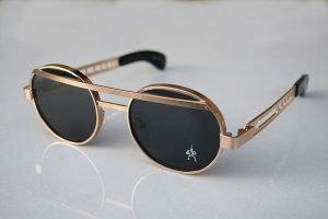 Gold Round Sunglasses Pictures